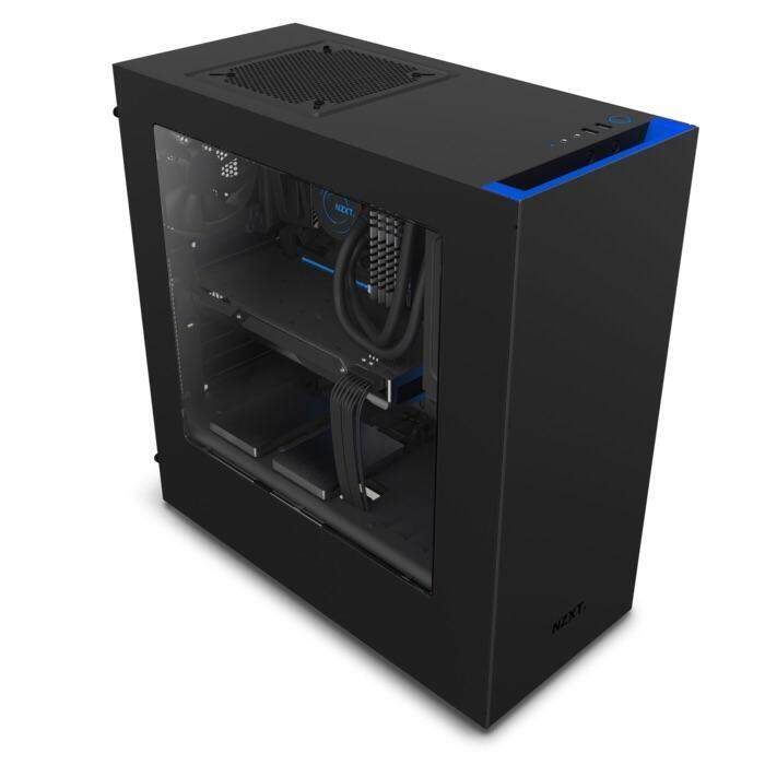 NZXT S340 Black + Blue Casing Malaysia