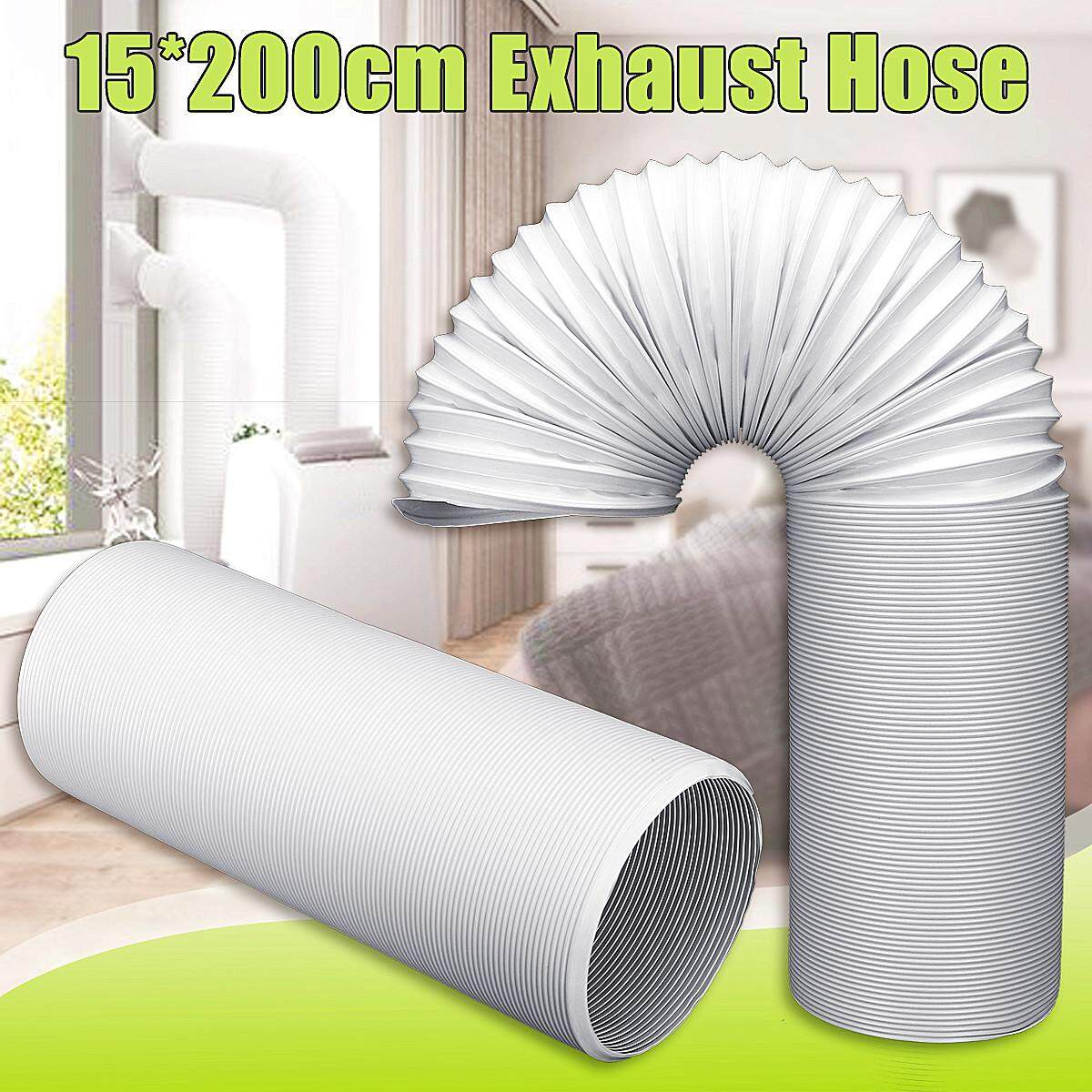 2M Exhaust Hose Vent Tube Pipe Steel Wire Air Conditioner 150mm Outlet Diameter