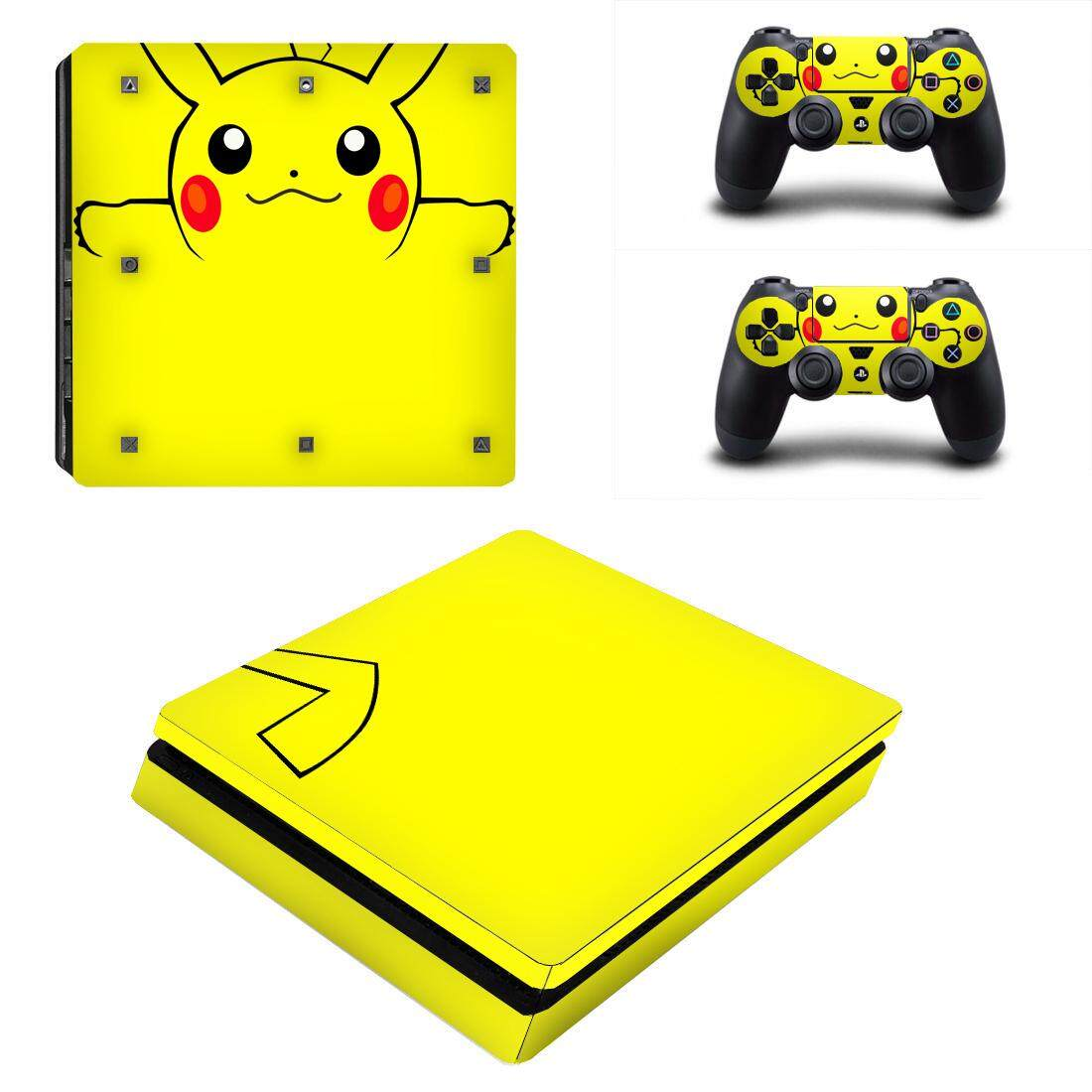 Xumu For PS4 Slim PlayStation Vinyl Skin Sticker Console Full Faceplates  Decal Protective Controller Skin