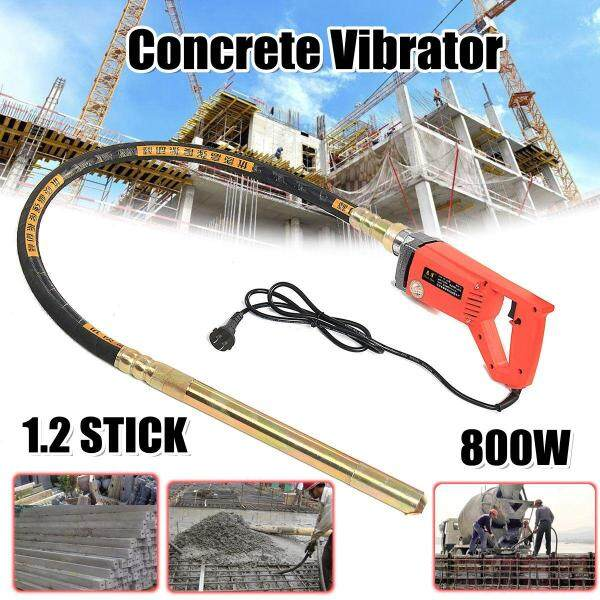 800W/1200W/1560W Concrete Vibrators Electric Cement Soil Mixer with Stick 3/4 HP- Heavy Duty Remove Air Bubbles & Level 5000 VPM - 800W × 1.2m rod