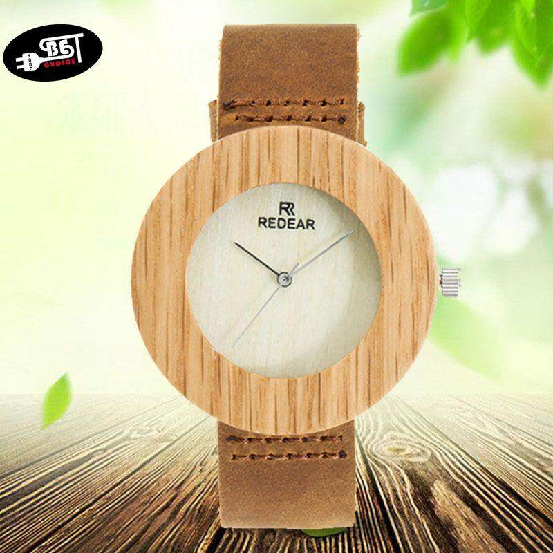 YBC Unique Men Wooden Watch with Leather Strap Quartz Movement Wood Quartz Watch Malaysia