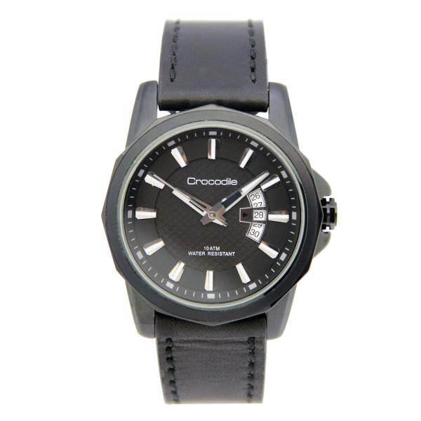 Crocodile leather strap with date window man casual elegant watch model CR411 Malaysia