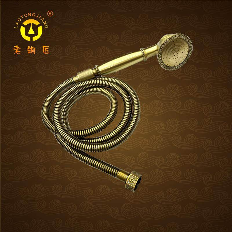 Old Coppersmith Copper Thick Handheld Sprinkler Nozzle Supercharge Water-Saving Bathroom Shower Spilled Shower Head Home