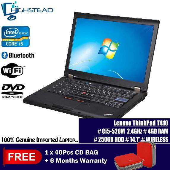 LENOVO T410 Ci5 520M 2.40GHz 4GB 250GB 14 Notebook Refurbished Malaysia