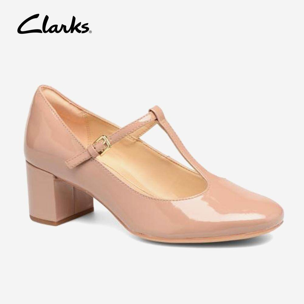 86bf5626ff Clarks Women's Orabella Fern Nude Patent Dress Shoes Fashion Comfort  Durable Comfort Durable