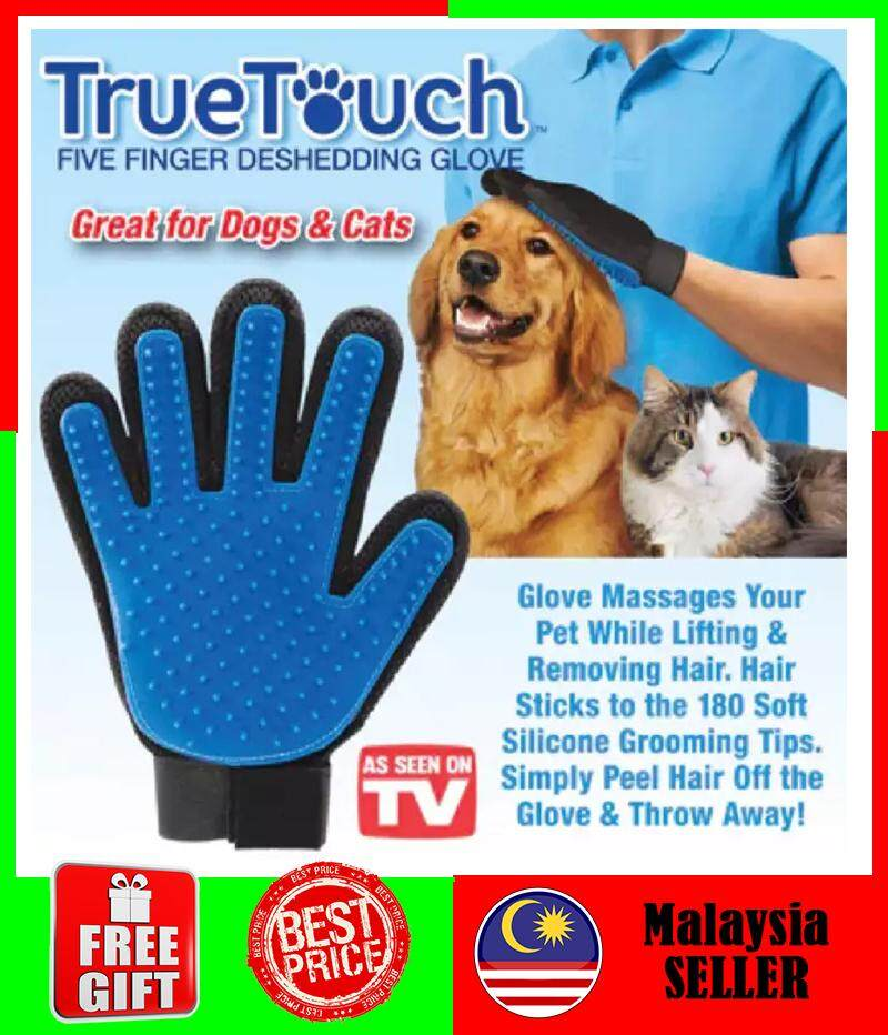 [msia] Ready Stock Pet Grooming Gloves Deshedding Hair Remover Fur/penggosok Bulu Kucing By Emily Cool Gallery.