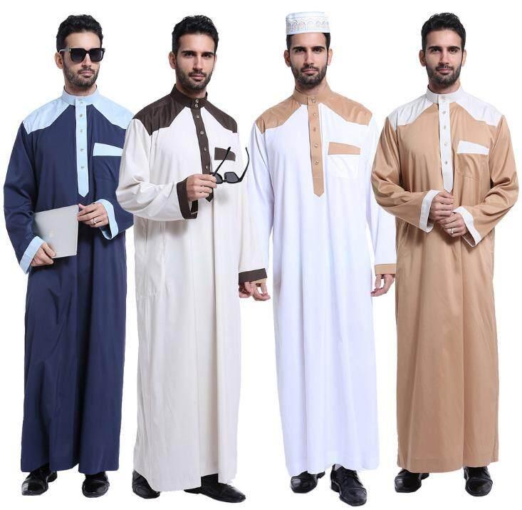 bc1ad1dd8b79 Fashion Muslim clothing for Men Mens Kaftan Jubba Thobe White Abaya Arab  clothing Man Islamic clothing ...