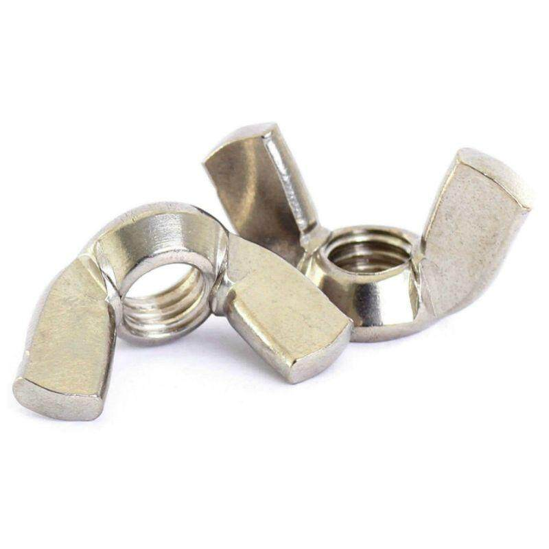 A2/70 (304) Stainless steel Wing Nuts Butterfly Nuts Silver, M8*1.25mm 20pcs