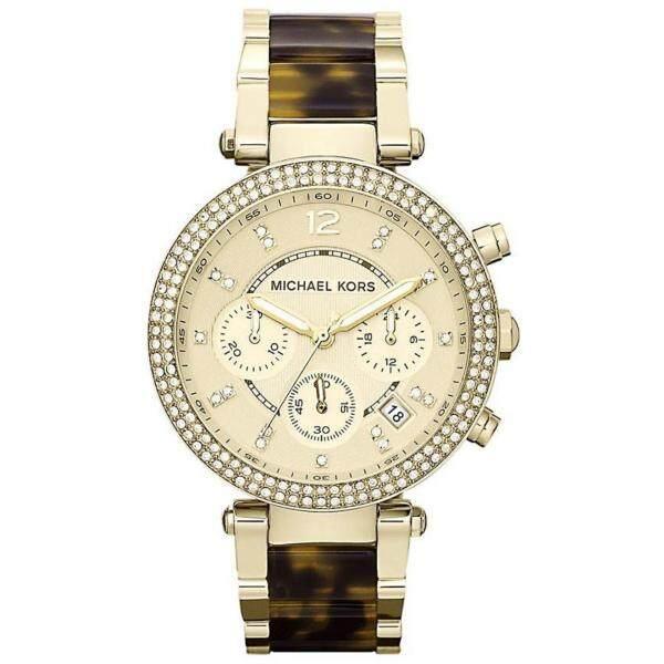 Michael Kors Womens Gold Chrono Parker Two-tone Tortoise Shell Watch MK5688 Malaysia