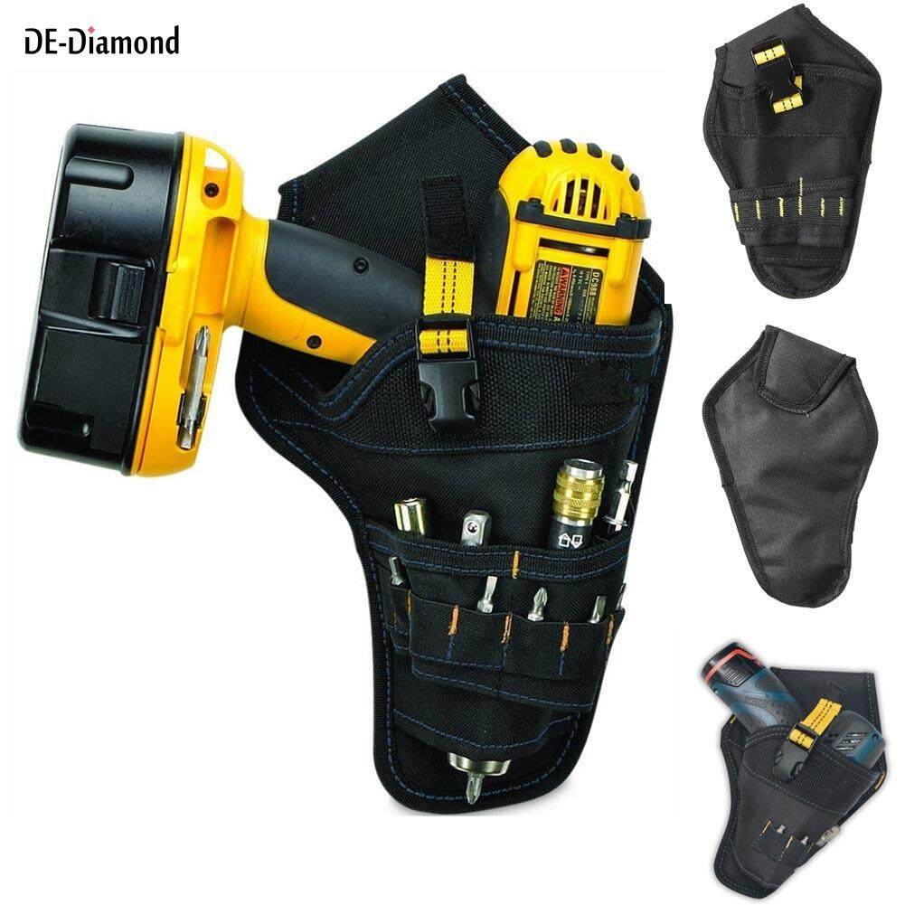 DE Heavy-duty Drill Holster Tool Belt Pouch Bit Holder Hanging Waist Bag Drill Tool Storage Bags