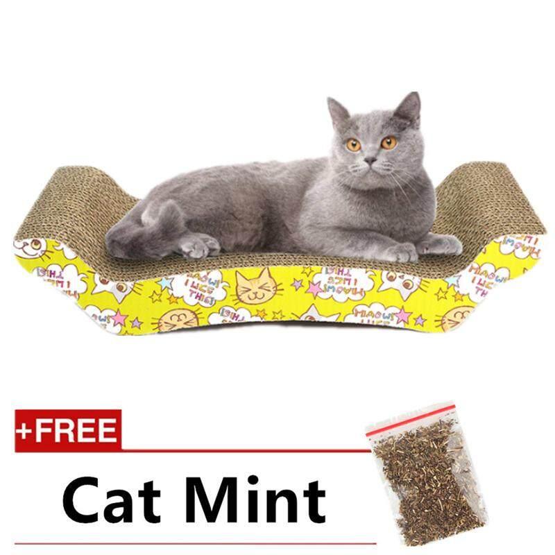 High Quality S Shape Cat Kitten Claw Scratching Board Pad (free Cat Mint)(bridge Shape) By P A F Pet Store.
