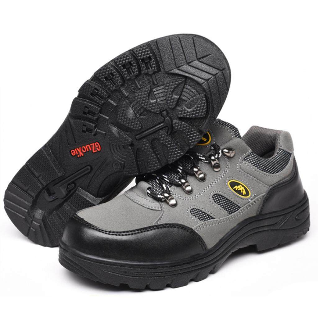 Miracle Shining Safety Work Boots Protective Shoes Steel Toe Water Resistant Boot US 10