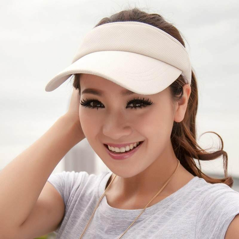 a945db69317 Haron Ladies Women One Size Clip On Visor Wide Brim Sun UV Protection Cap  Cover Hat