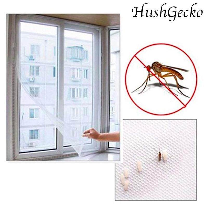 HushGecko 3PCS 1.3M*1.5M Self-adhesive Anti-mosquito Net Flyscreen Curtain Insect Fly Mosquito Bug Mesh Window Screen Home Supplies