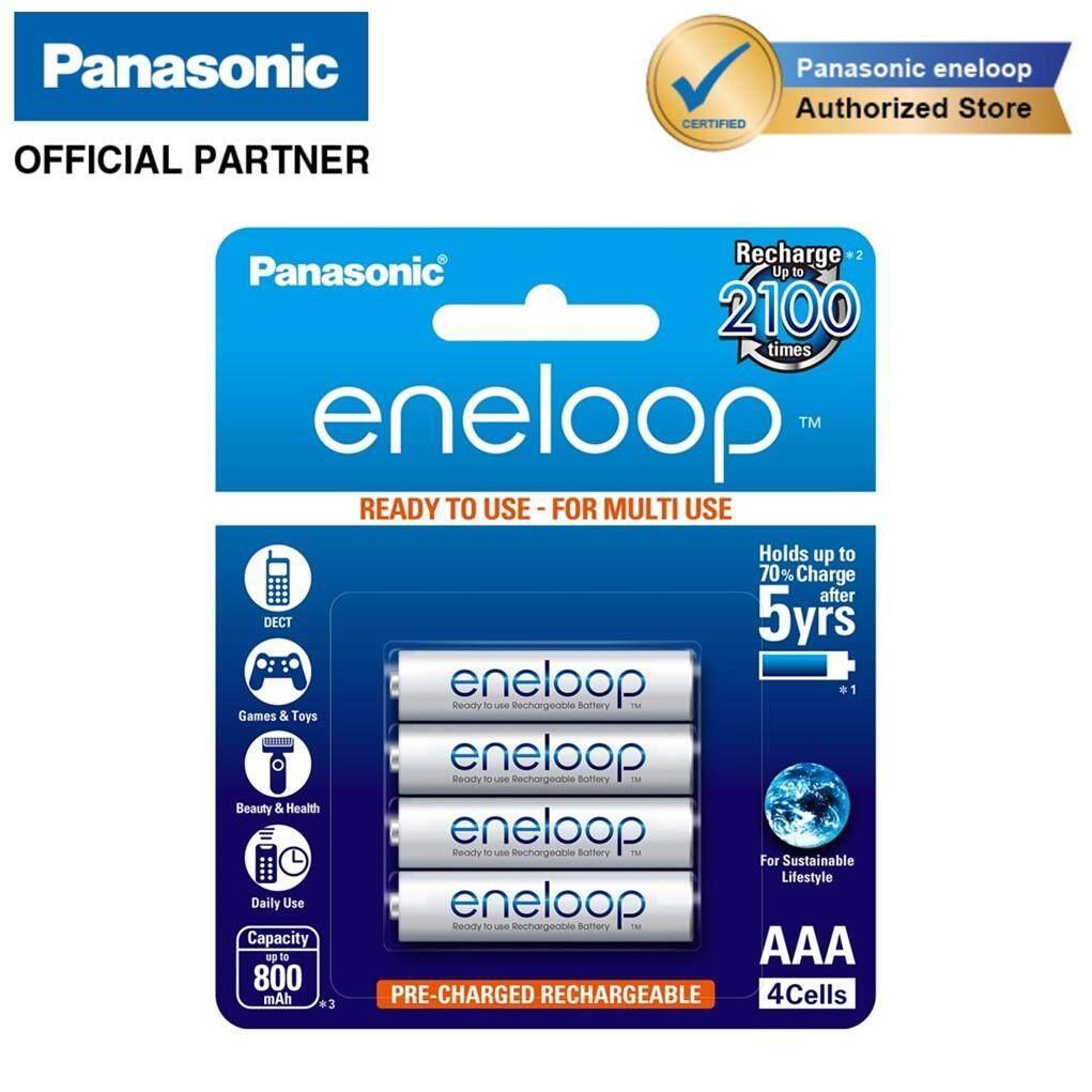 Panasonic Eneloop Aaa 4cell Rechargeable Battery 800mah Capacity [bundle 18] By Panasonic Authorized Partners - Energy.