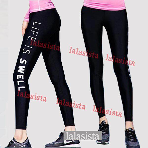 3e37de983ec Women long swimming pants swim tights sun protective surfing leggings sport swim  pant (black colour