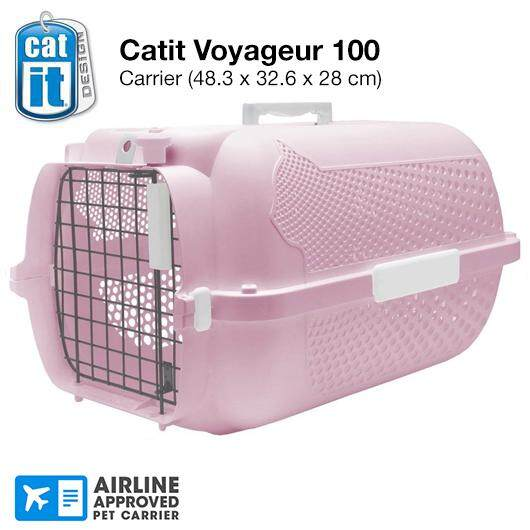 Catit Voyageur 100 Iata Approved Cat Carrier- Small (48.3l X 32.6w X 28h Cm ) By Petzbuy.