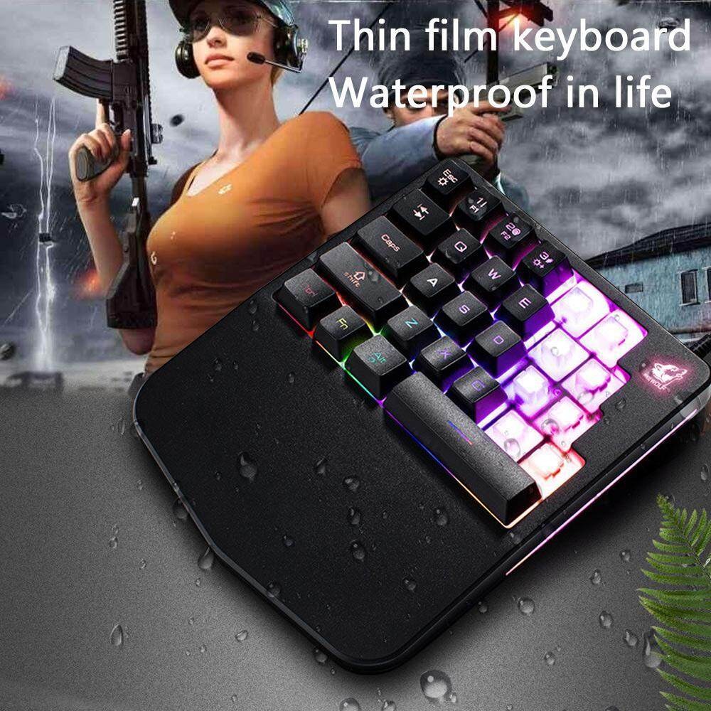 niceEshop Wired Gaming Keyboard K11 28 Keys LED BackLight Usb Ergonomic Pro Gamer Single-hand Control Mechanical Keypad For PC Laptop Computer Malaysia