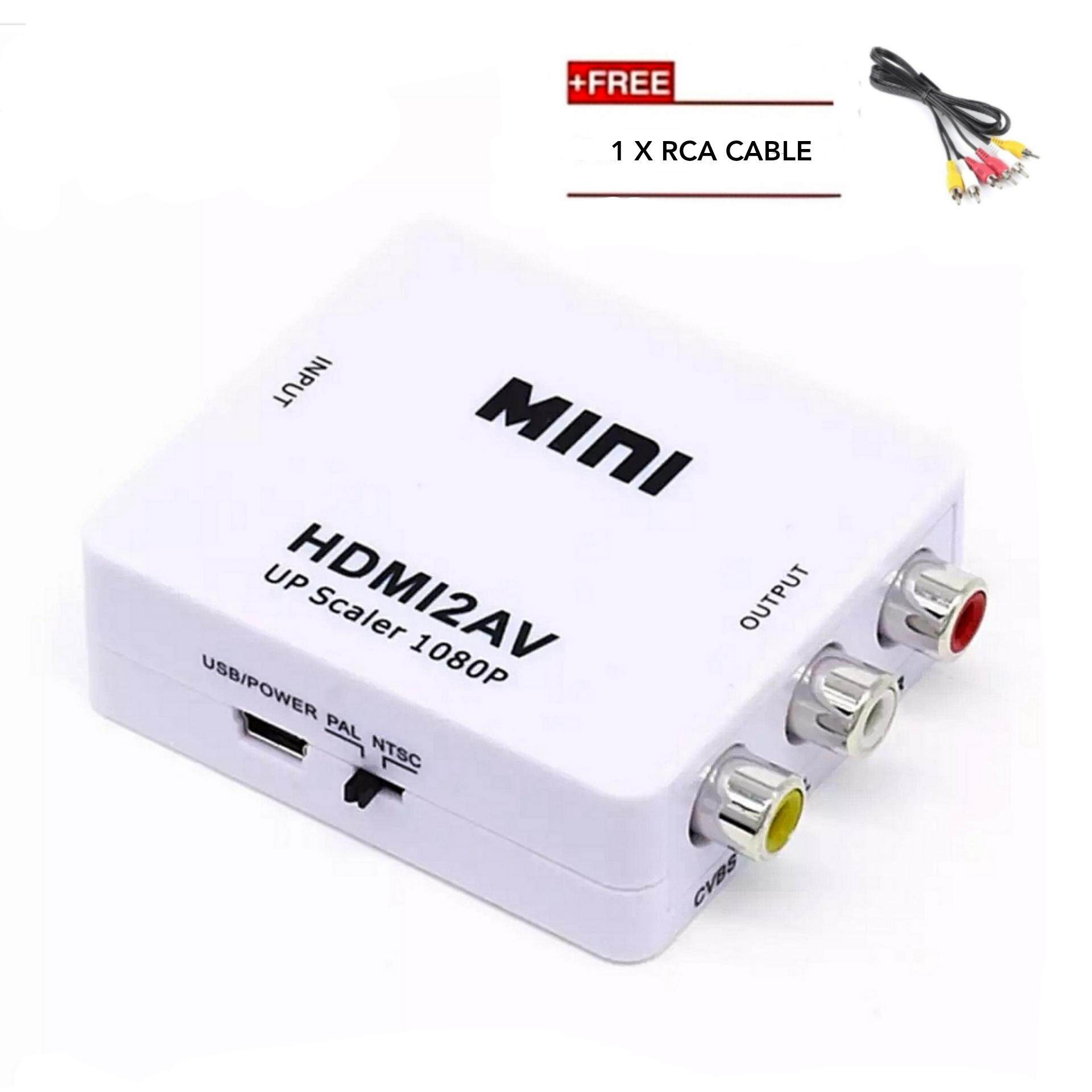 Shop Tv Adapters Buy At Best Price In Malaysia 2 Way Rca Switch Box Mini 1080p Hdmi To Turn Av Cvba Audio Video Adapter Converter Support