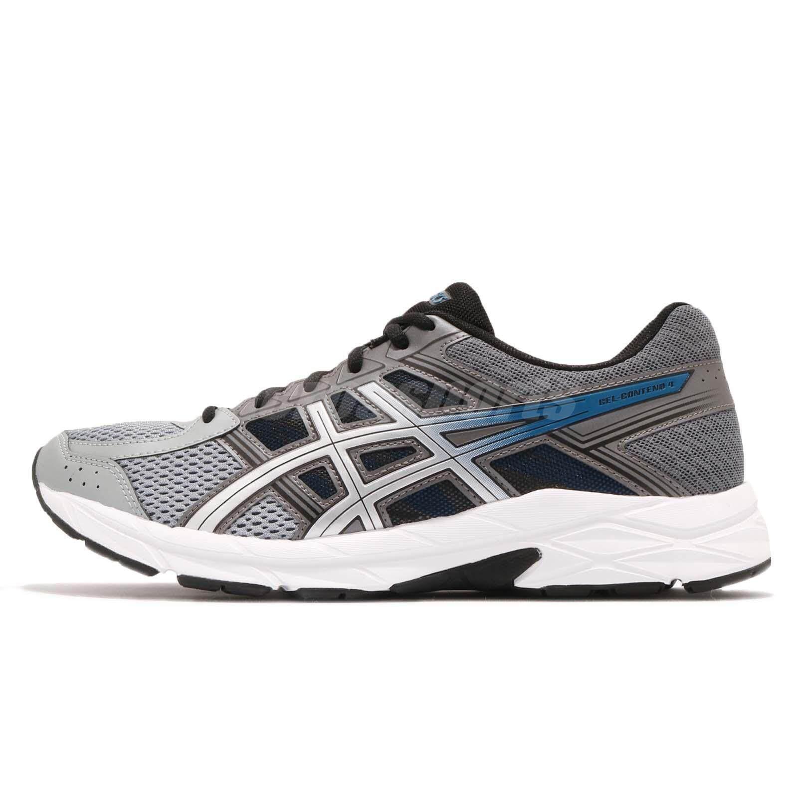 designer fashion 702b4 8ee0c Asics Gel-Contend 4 Grey Silver White Men Running Shoes Sneakers