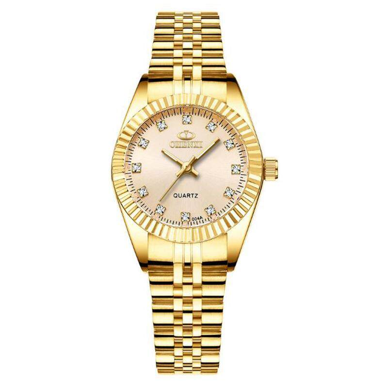 Original Formal Women Quartz Stainless Steel Watch Business Waterproof Gold Women Watches Jam Tangan Wanita Malaysia