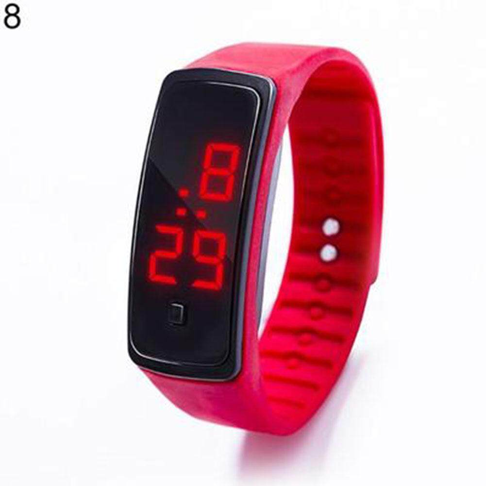 Fashion Boy Girl Sports Daily Waterproof Silicone LED Digital Wrist Watch