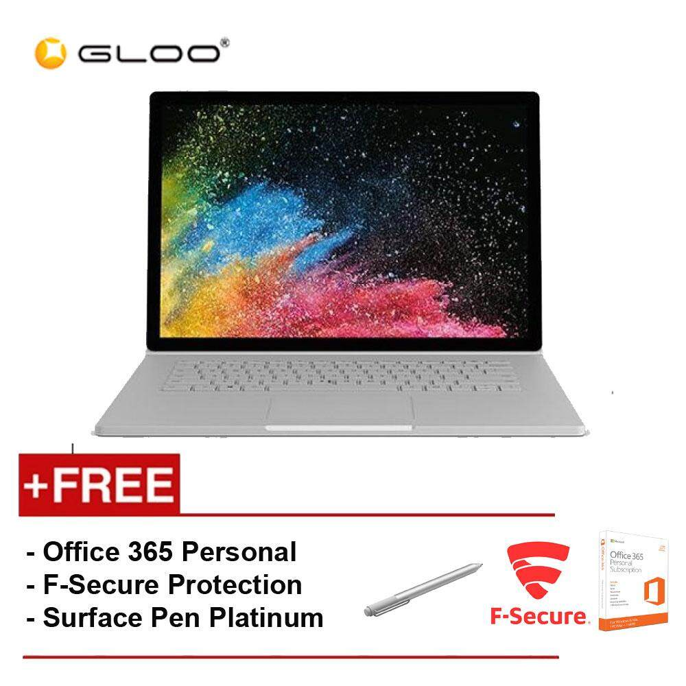 Surface Book 2 15 Core i7/8GB RAM - 256GB [FREE F-Secure End Point Protection + Off 365 Personal + Microsoft Surface Pen Platinum] Malaysia