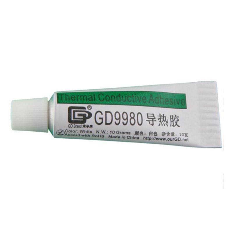 GD GD9980 Thermally Conductive Adhesive Cement Glue Heat Sink Plaster Silicone 3 Pieces Net Weight 10 Grams White For LED VGA ST10 Malaysia