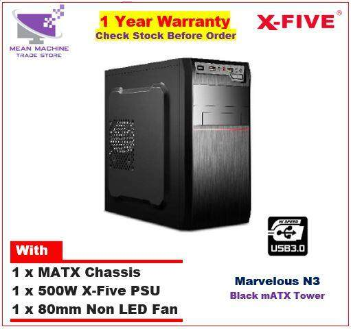 #X-Five Marvelous N3 MATX Chassis (500W PSU + 8cm Fan Included)# Malaysia