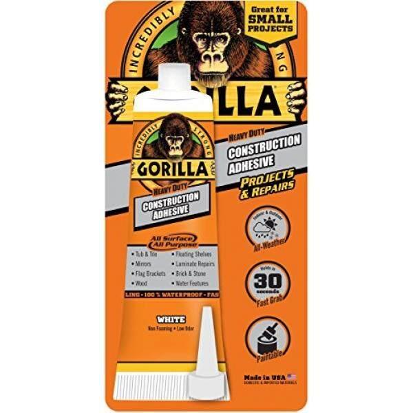 Gorilla 8020001 Heavy Duty Construction Adhesive, 2.5 oz, White