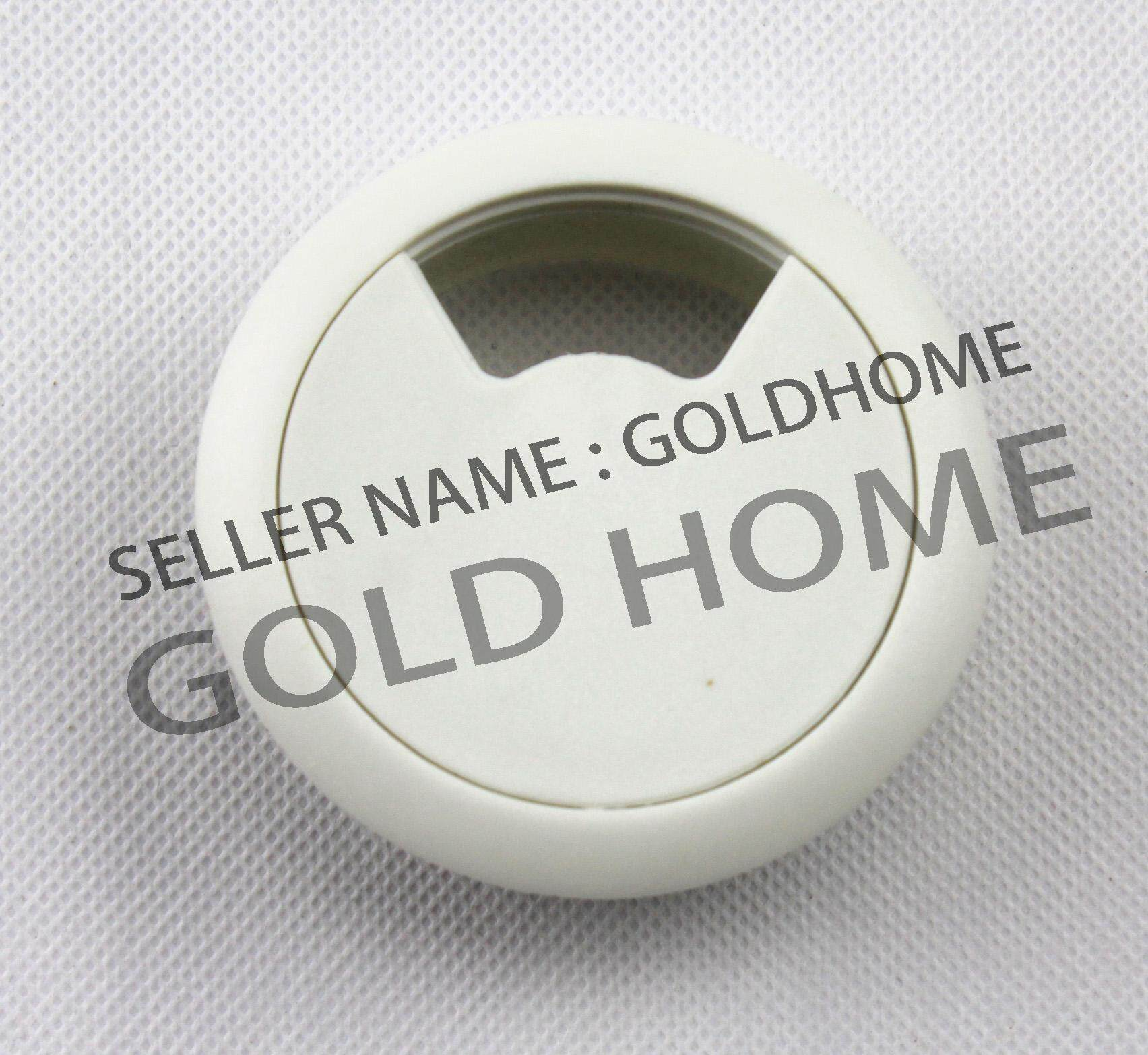 GOLDHOME  60mm PC Computer Desk Plastic Grommet Table Cable Tidy Wire Hole Cover( WHITE) Malaysia