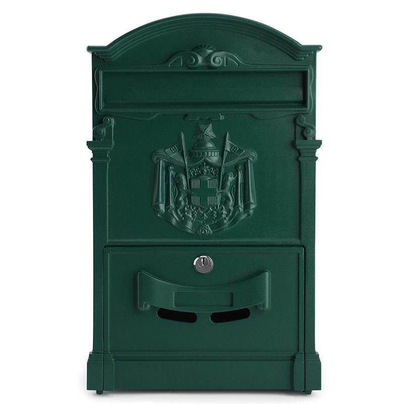 LOCKABLE SECURE POSTBOX LETTERBOX WALL MOUNTED STAINLESS MAIL POST LETTER BOX Model:Green