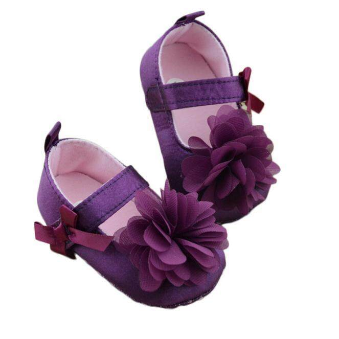 Radocie Toddler Kids Girls Shoes Bowknot Flower Sole Walking Shoes 11cm By Radocie.