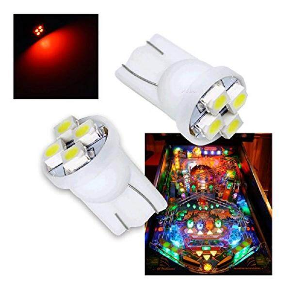 Pa® 10pcs 555 T10 4smd Led Pinball Machine Light Bulb Red-6.3v By Buyhole.