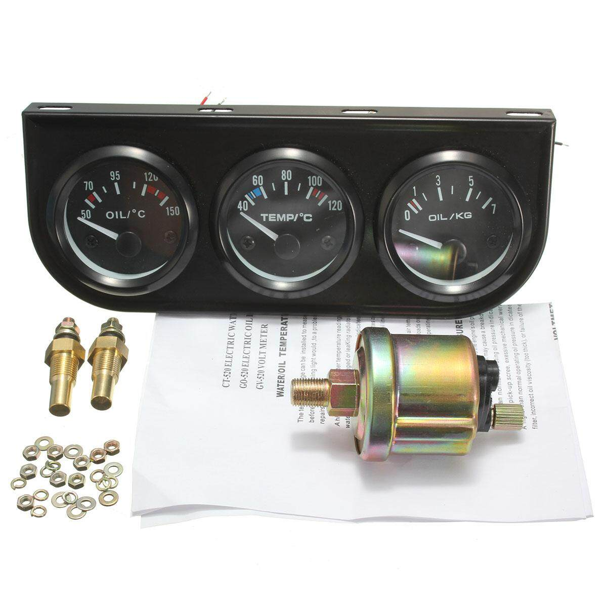 Gauges Buy At Best Price In Malaysia Auto Meter Water Temp Gauge Wiring Diagram 2 52mm Oil Pressure 3 Electronic Kits W
