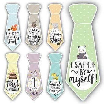 Tawaran Panas 38 Baby Milestone First Year Necktie Stickers Best Shower Gift For Newborn Boys Girls Onesie Ties Monthly Age Markers