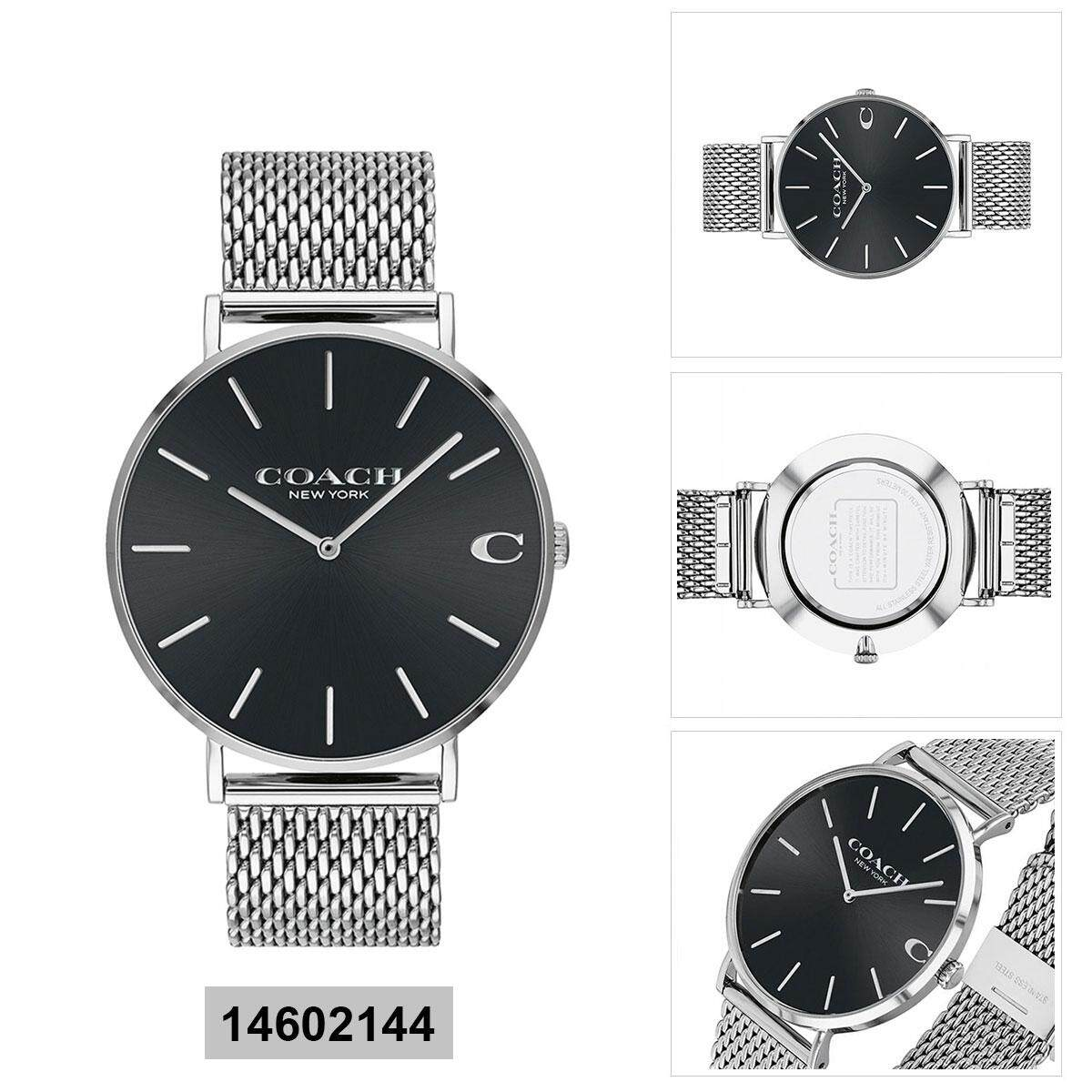 Coach Coach Charles Silver Stainless-Steel Case Stainless-Steel Bracelet Mens 14602144 Malaysia