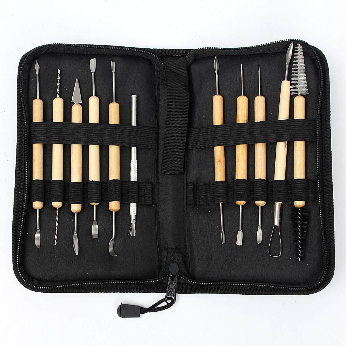 1Ppcs Clay Sculpting Wax Carving Pottery Tools Shapers Polymer Modeling Set +Bag