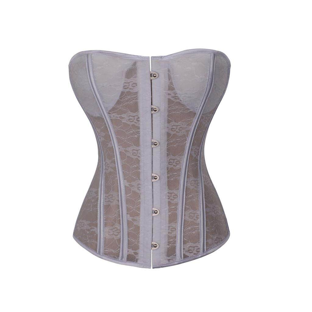 e53cd8176ca Aiipstore Women Underbust Lace Bandage Waist Trainer Corsets Shapewear Body  Shaper
