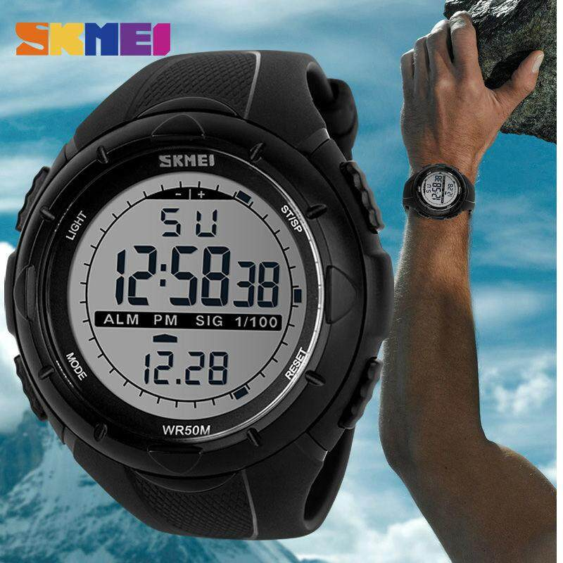 SKMEI Sports Military LED Watch Digital Wristwatches Big Dial Watches Alarm Shock Resistant Waterproof Watch 1025