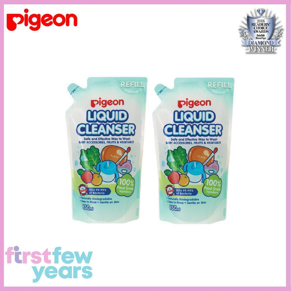 Pigeon Liquid Cleanser Value Pack (refill Pack 650ml X 2) By First Few Years.