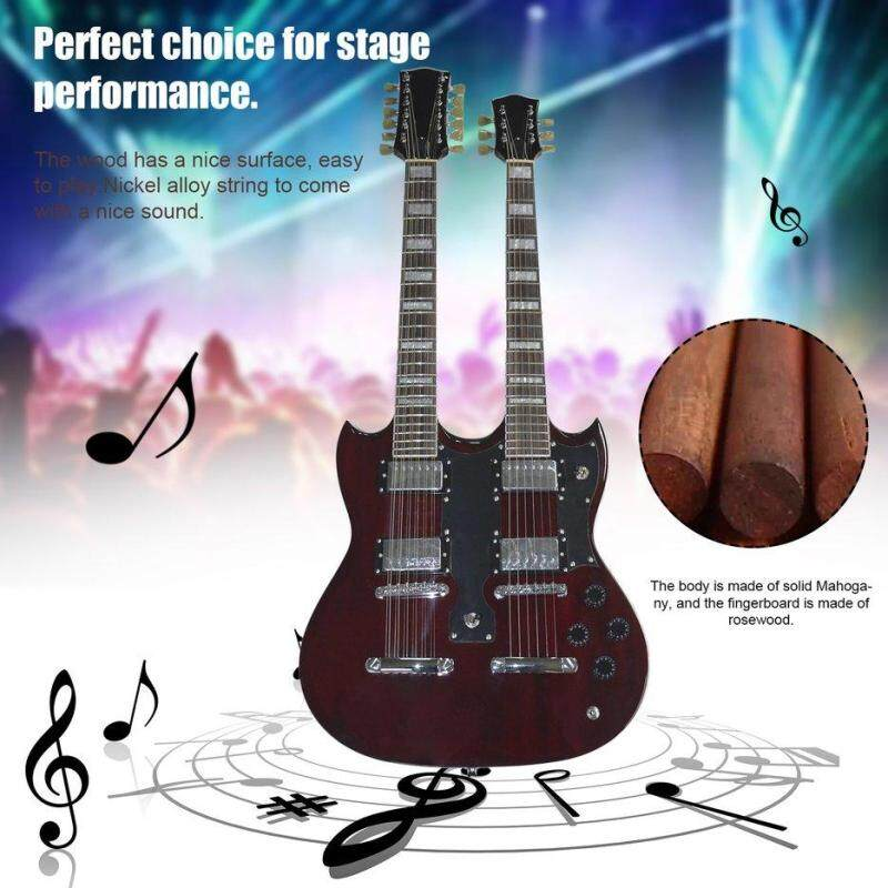 BELLE TSAI SY-NE-005 12 Strings Double Necks Electric Guitar with Double Coil Pickup red Malaysia