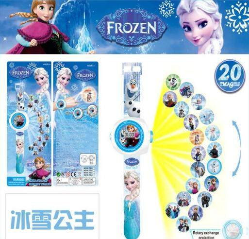 New Cartoon 3D Frozen Sophia Little Pony Kitty Peppa Projection Watch Baby Digital Child Watch Gift for Children Kids Malaysia