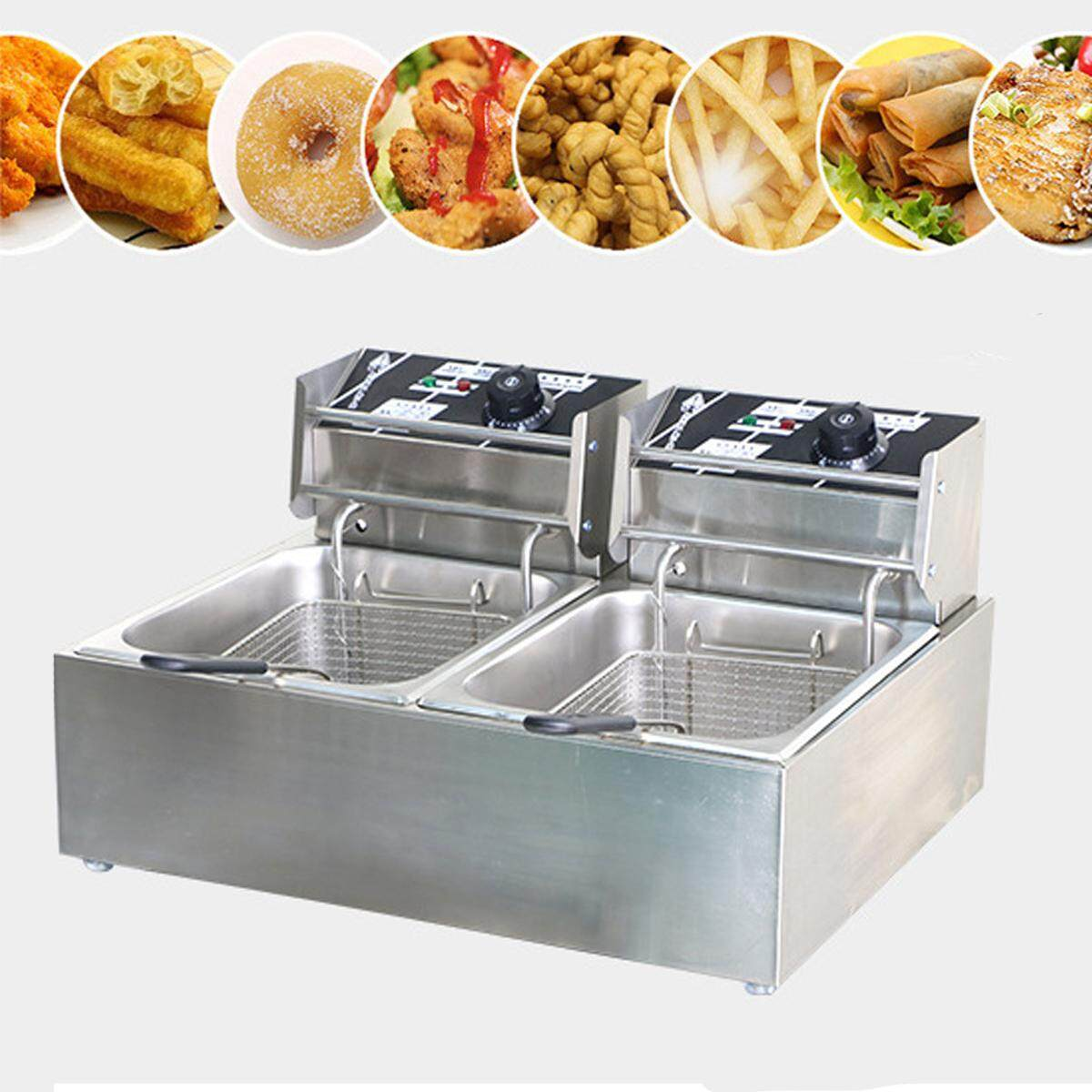 Chef Electric Commercial Deep Fryer Twin Frying Basket Chip Cooker 5000w By Glimmer.