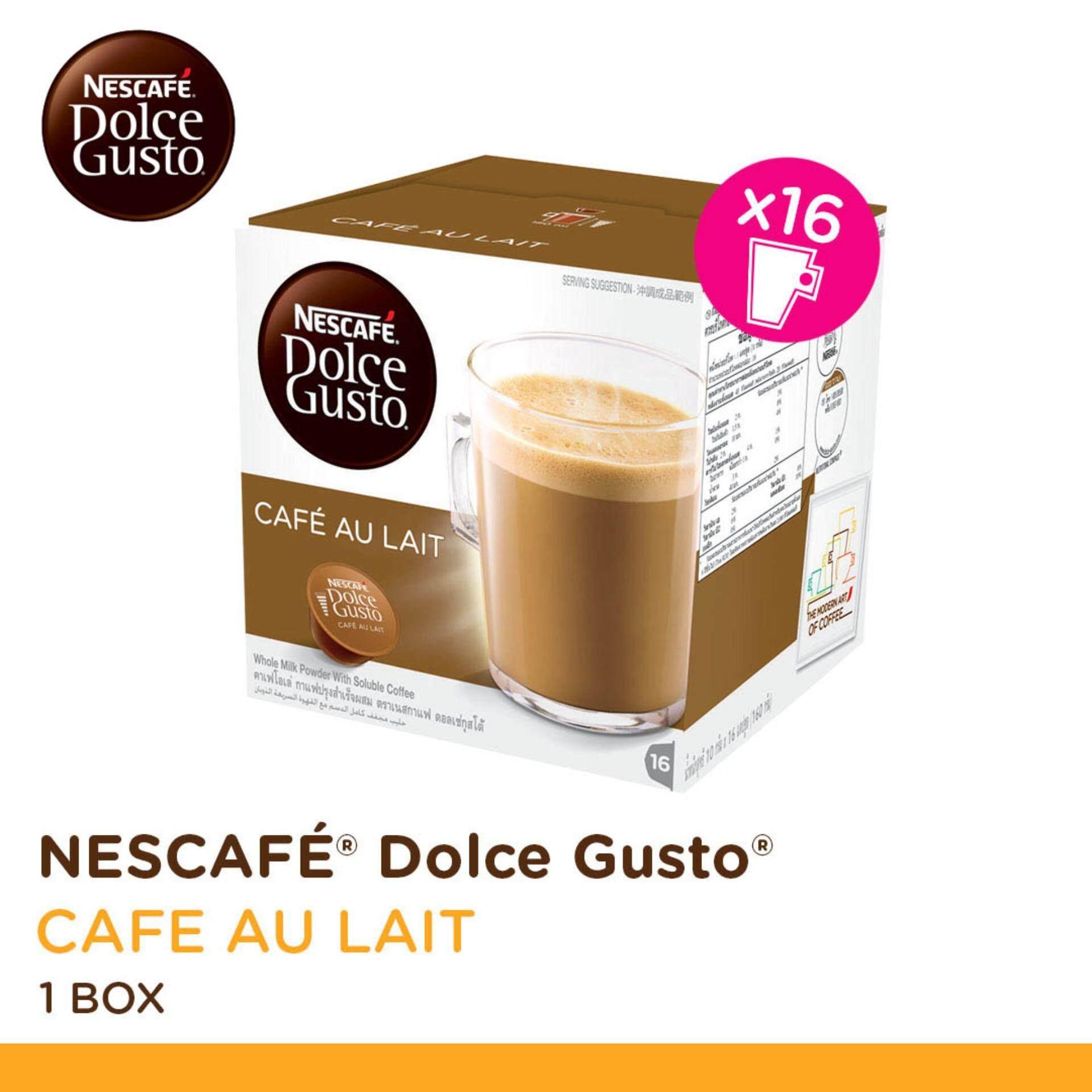 NESCAFE Dolce Gusto Cafe au Lait Coffee 16 Capsules Per Box