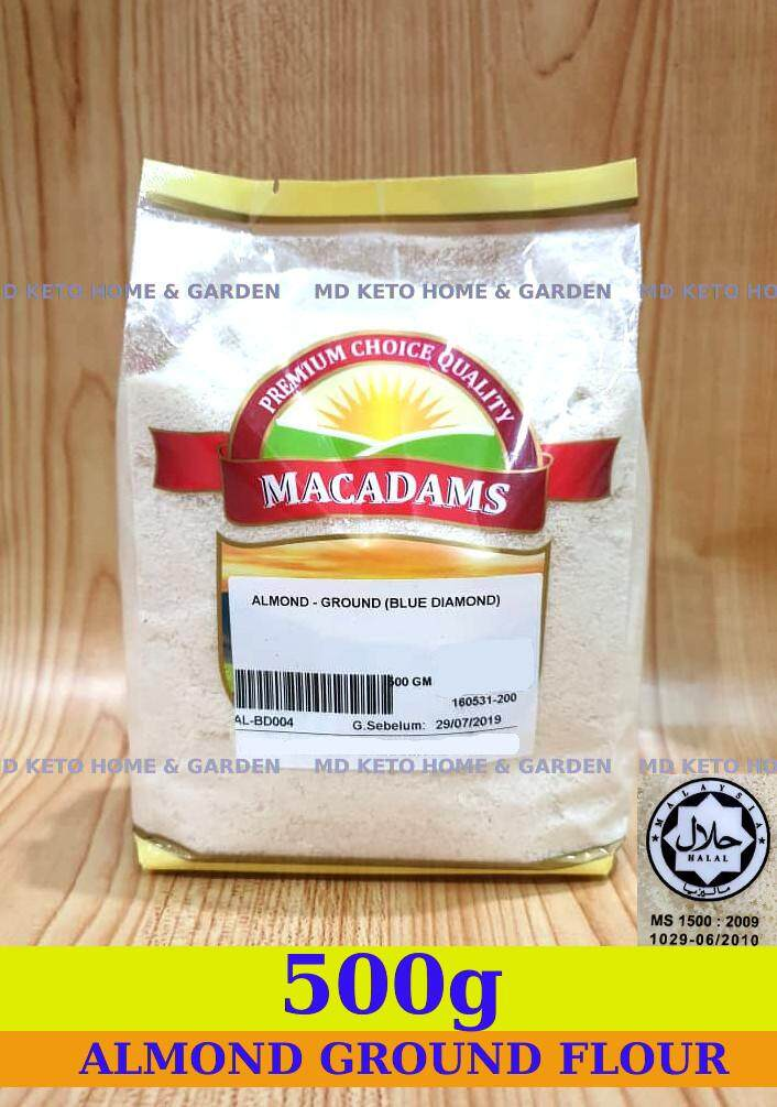 [halal] Premium 500g Ground Almond Flour Low Carb Diet, Lchf Keto Cake Bakery Kitchen Bakeware, Keto Baking (exp : July 2020) By Md Home & Garden.