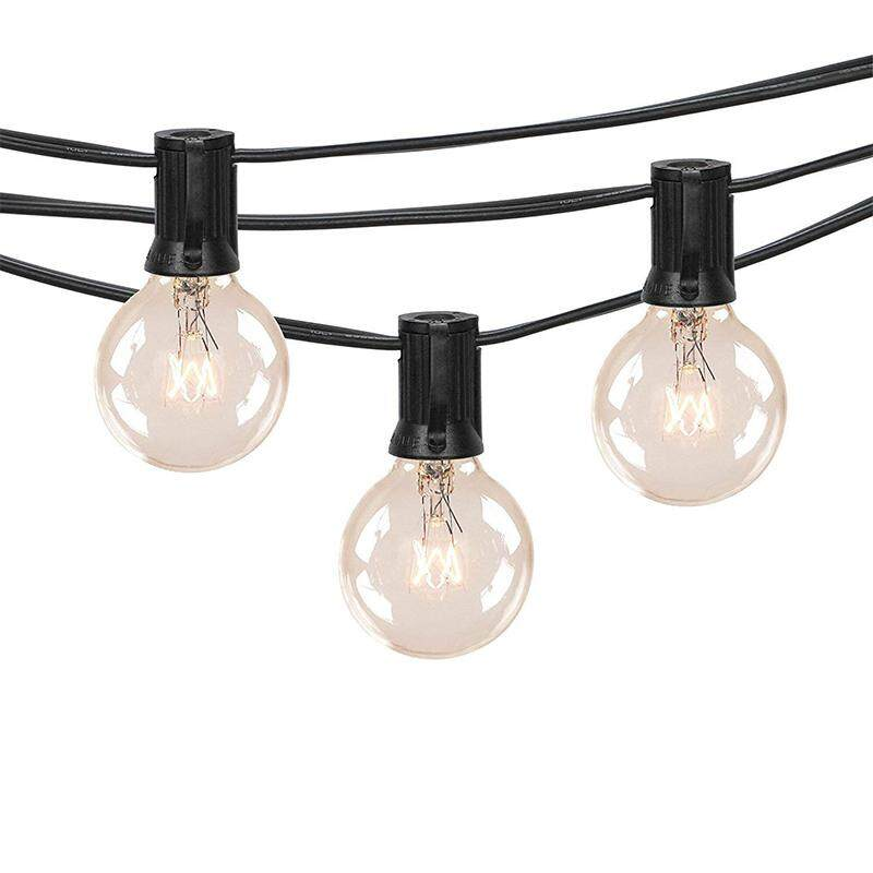 Free Shipping 50ft Outdoor Patio String Lights With 50 Clear Globe G40 Bulbs, For Indoor/outdoor Patio Backyard Pool Porch Garden Marquee Decor By Ralleya.