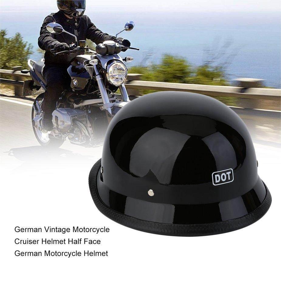 No  German Vintage Motorcycle Cruiser Helmet Half Face German Motorcycle Helmet