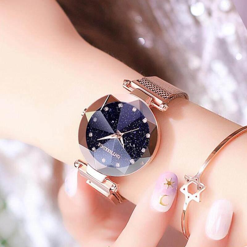 MISTLETOE Jam Tangan Wanita Casual Women Stainless Steel Bracelet Watch Original Fashion Luminous Quartz Waterproof Watches Black Purple Blue Gold Watch for Women Malaysia