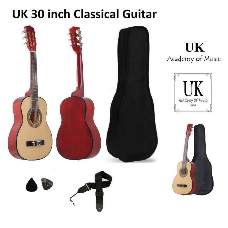 UK 30 Inch Classical Guitar Free Bag+Strap+2 Picks (Natural) Malaysia